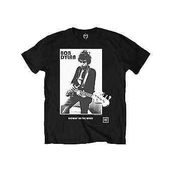 Bob Dylan Kids T Shirt Blowing in the Wind Logo new Official Black Ages 1-12 yrs
