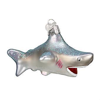 Old World Christmas Deep Sea Ocean Shark Holiday Glass Ornament
