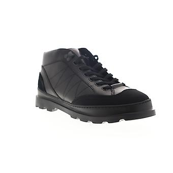 Camper Brutus  Mens Black Leather Mid Top Lace Up Chukkas Boots