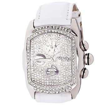 Iced out bling hip hop watch - white / iced
