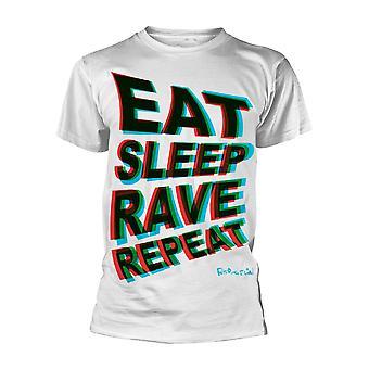 Fatboy Slim Eat Sleep Rave Répéter Officiel Tee T-Shirt Mens Unisex