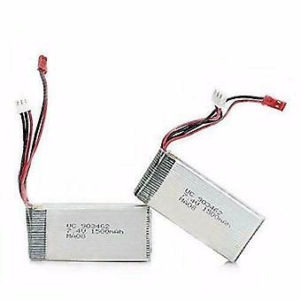 2 Pieces WLtoys V913 RC Helicopter Spare Parts 7.4v 1500mAh Battery V913-25