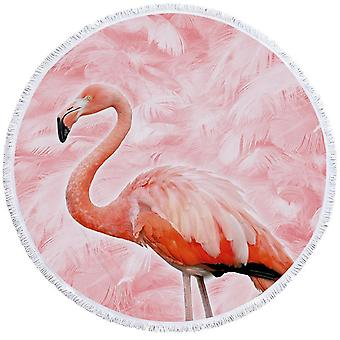 Pinkish Flamingo Beach Towel