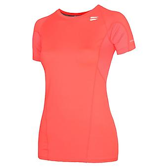 TribeSports Kvinnor & s SS Run Top Coral Small