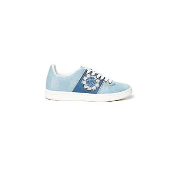 Desigual Cosmic Exotic Flowers Sneakers Escarpins Blue Denim