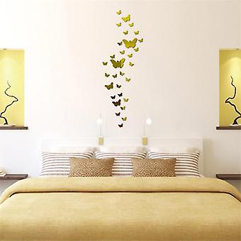 Butterfly Mirror Surface Wall Sticker - Detachable Art Sticker