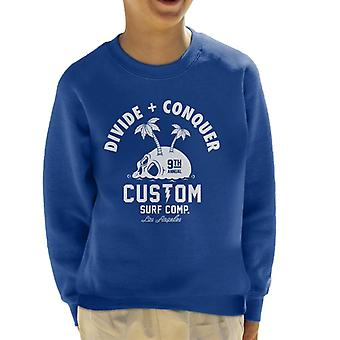 Divide & Conquer Custom Surf Comp Kid's Sweatshirt
