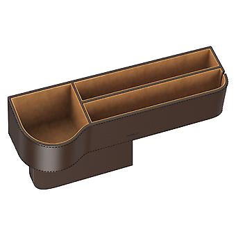 Storage box car leather look brown