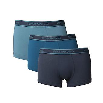 Emporio Armani Loungewear Blue 3 Pack Boxer Shorts
