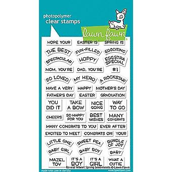 Lawn Fawn Reveal Wheel Spring Sentiments Clear Stamps