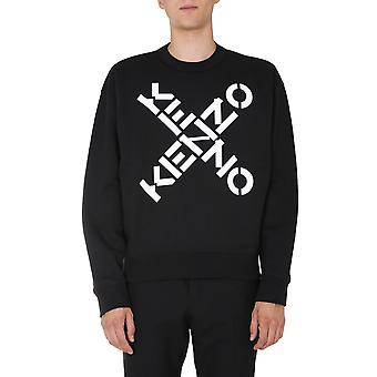 Kenzo Fa65sw5214ms99 Men's Black Cotton Sweatshirt