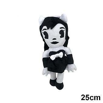 Cute Bendy Cartoon  Plush Stuffed Wolf Boris - Angel Girl Alice Kids Dolls