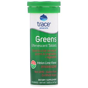 Trace Minerals Research, Greens, Bruisend Tabletten, Meloen Lime Flavor, 10 Tab