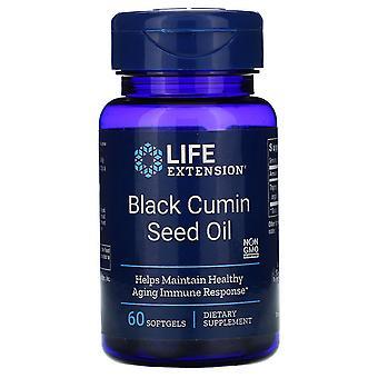 Extensión de vida, aceite de semilla de comino negro, 60 Cápsulas blandas