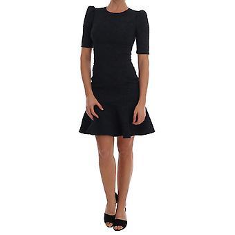 Dolce & Gabbana Siyah Mavi Fişek Mini Elbise DR1359-1