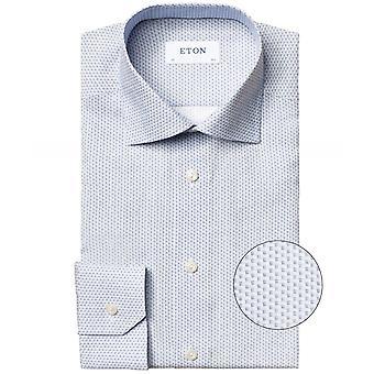 Eton Slim Fit Micro Print Shirt