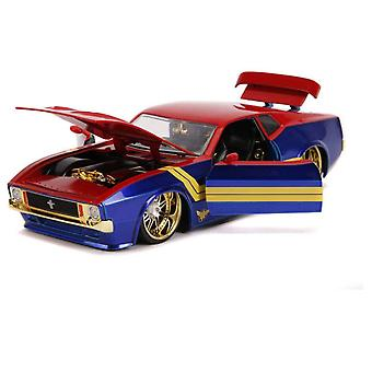 Cap Marvel 1973 Ford Mustang Mach 1 1:24 Hollywood Ride