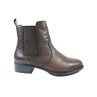 Rieker 73494-25 Braun Leder Damen Chelsea Stiefel