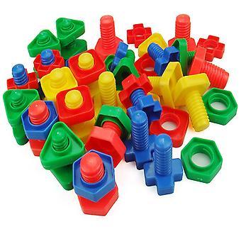 Kunststoff Schraube Nuss einfügen Bausteine pädagogisches Spielzeug