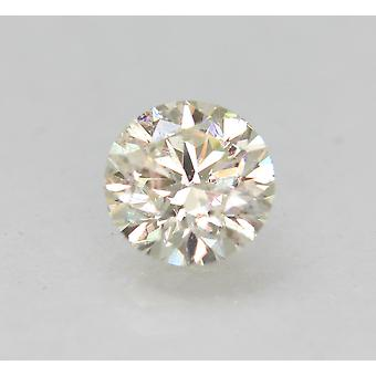 Certified 0.78 Carat I VS2 Round Brilliant Enhanced Natural Loose Diamond 5.87mm