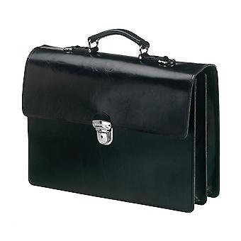 Leather Laptop Bag - The Jones - Black