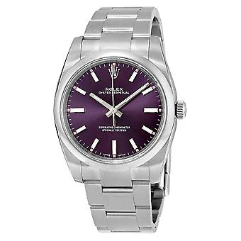 ROLEX Oyster Perpetual 34 Purple Dial Unisex Watch 114200RGSO