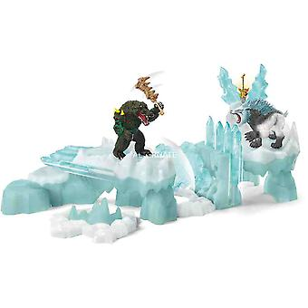 Schleich attach on ice fortress collectible figure play set for children over 3