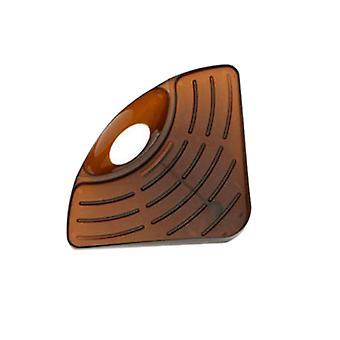 Sponge Holder Draining Rack Triangular Sink Drain Rack Brown
