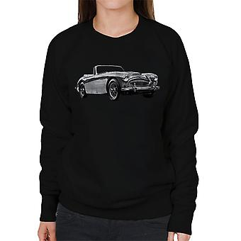 Austin Healey Grey British Motor Heritage Women's Sweatshirt