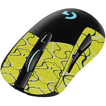REYTID Durasoft Polymer Gaming Mouse Skin Grip Sticker Tape - PRE-CUT - Compatible avec Logitech G703 - Slip-Resistant, WaterProof et Ultra-Comfortable Grips