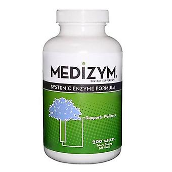 Naturally Vitamins Medizym Systemic Enzyme Formula, 200 Tabs