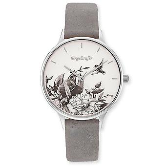 Angel Caller Women's Watch Wristwatch Stainless Steel ERWA-FLOWER1-NGY1-MS Leather Strap