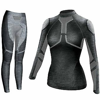 Yooy Frauen Ski Thermal Unterwäsche Set - Damen Quick Dry Funktion Kompression