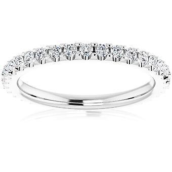 1/2 Ct Lab نمت الماس EX3 الخلود خاتم النساء سيئة 14k الذهب الأبيض