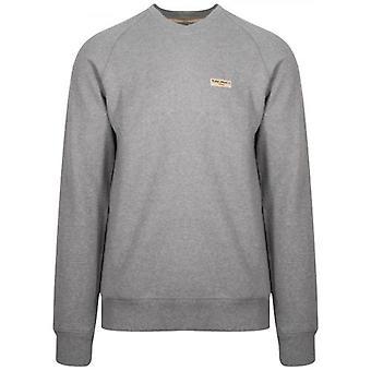 Nudie Jeans Samuel Grey Melange Sweatshirt