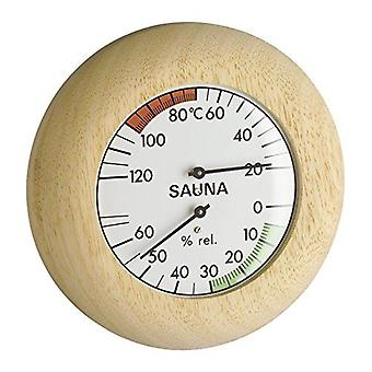 Analogue Sauna Thermo-Hygrometer with Wooden Frame 40.1028
