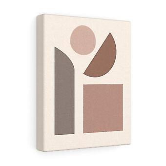 Bannière de toile d'abstraction avec le cadre en bois