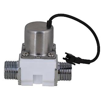 White DC6V 1/2Inch Electric Solenoid Valve Water Flow Pulse Control Switch