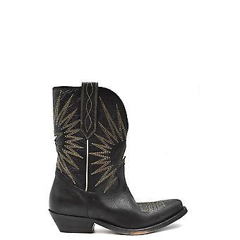 Golden Goose Ezbc011050 Women's Black Leather Ankle Boots