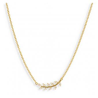 Gold Plated Flower Necklace 45cm