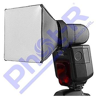 Phot-r professionelle universelle 13 x 10cm softbox flash diffuser til flashguns