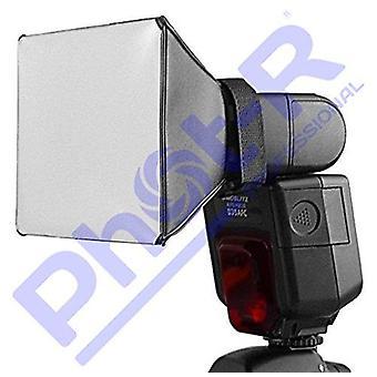 Phot-r professionele universele 13 x 10cm softbox flash diffuser voor flashguns
