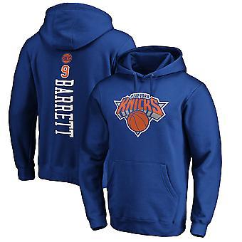 Felpa con cappuccio New York Knicks 9 Barrett Loose Pullover WY249