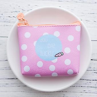 Leather Purses Small Fresh Casual Pu Coin Wallet Lady Fashion Fruits Pattern