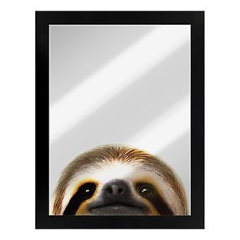 Inquisitive Creatures Sloth Mirrored Plaque