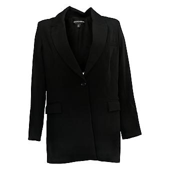 BROOKE SHIELDS Timeless Women's Woven Blazer Black A342021