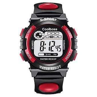 Børn Watch, Sport Kids ure, Silikone Strap, vandtæt Led Digital,