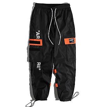Men's Side Pockets Cargo Harem Pants, Hip Hop Casual Tatical Joggers Trousers,