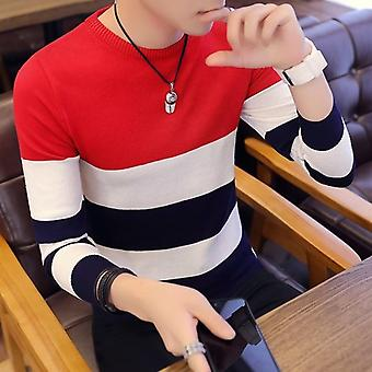 Pullovers Men Long Sleeve Knitted Sweater, Winter Warm Coat