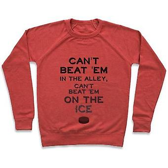 Can't beat 'em on the ice crewneck sweatshirt
